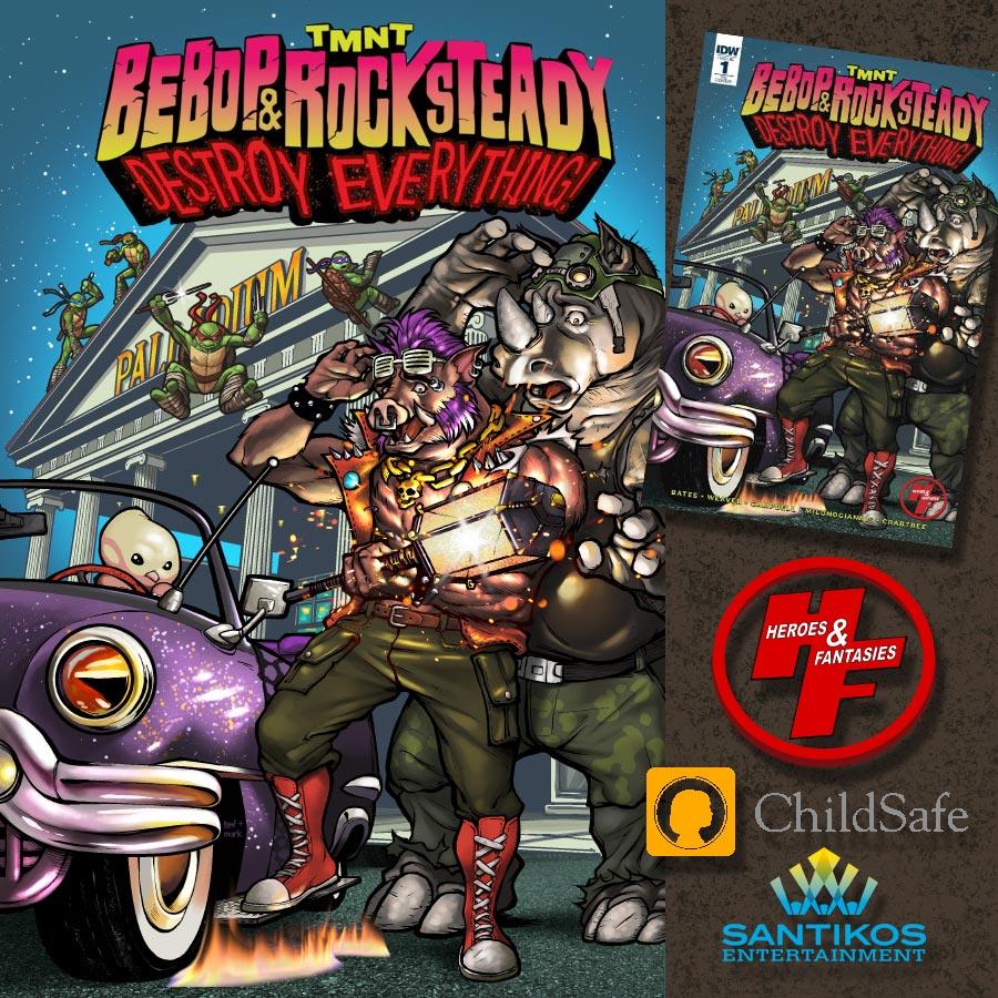 TMNT Bebop and Rocksteady Destroy Everything by ninjaink