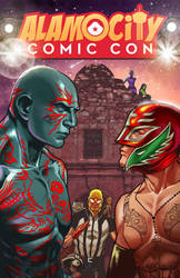 Alamo City Comic Con HF Print by ninjaink