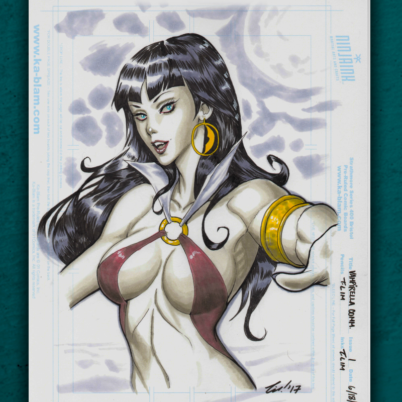 Vampirella Commission by ninjaink