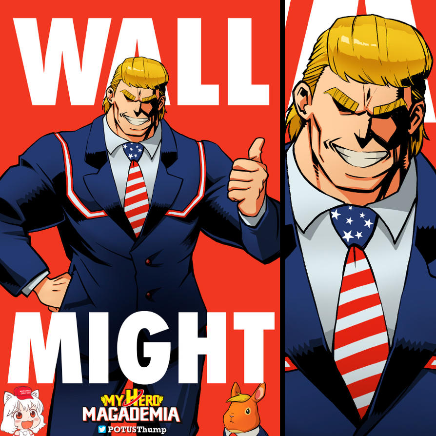 Wall Might - My Hero MAGAdemia by ninjaink
