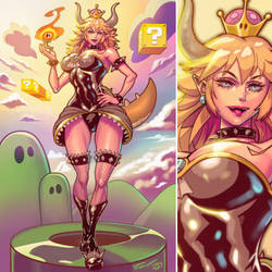 Bowsette by ninjaink