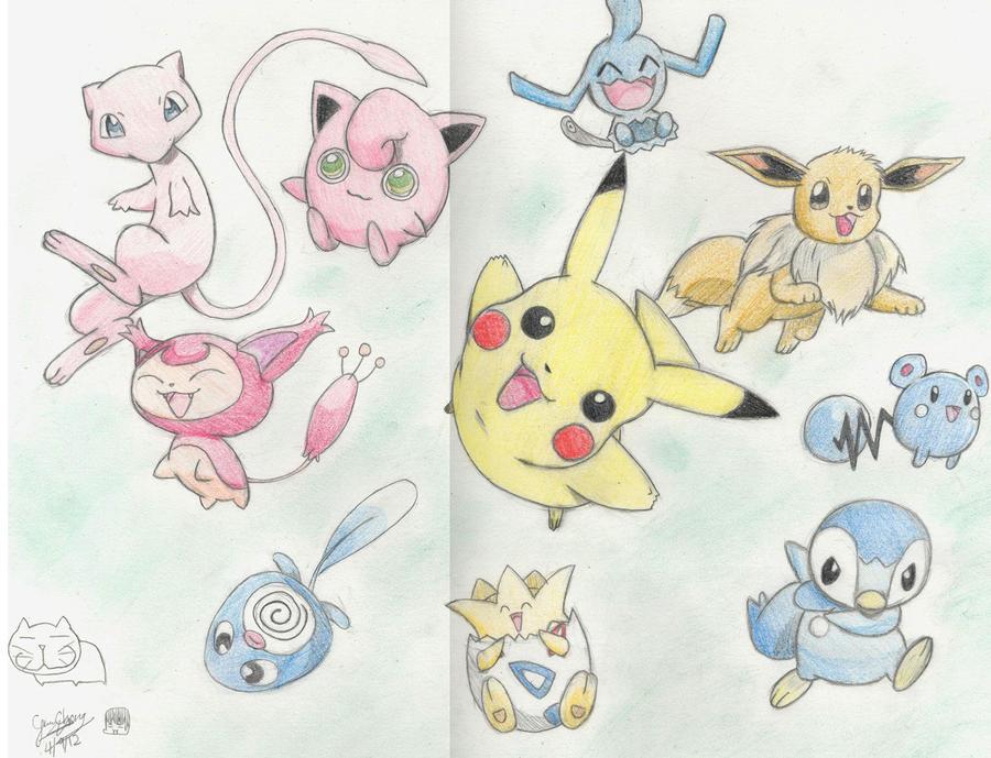 100 How To Draw Cute Pokemon Characters Easy Cute Chibi Kawaii How