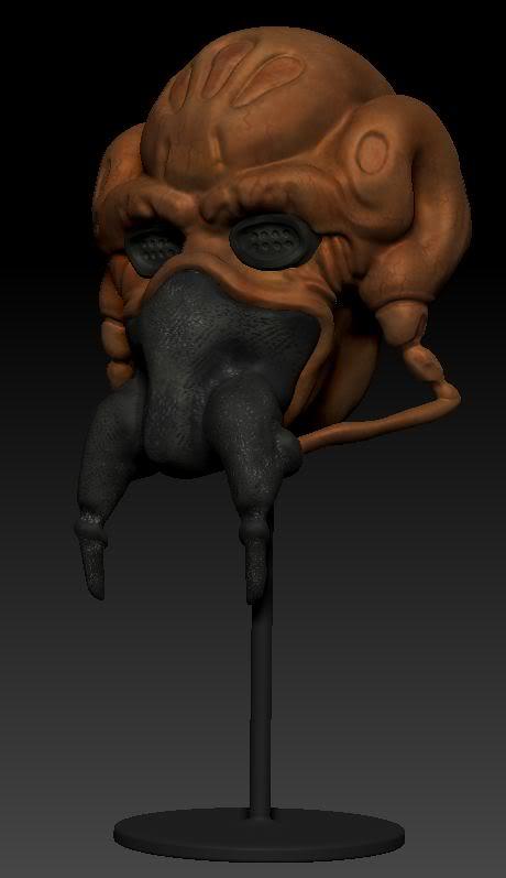 Plo Koon face Sculpt by izzystradlin