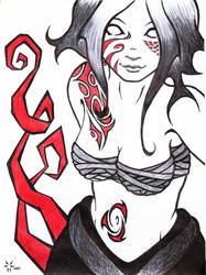 Blood and tattoo