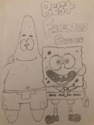 Spongebob and Patrick  by MusicLover88