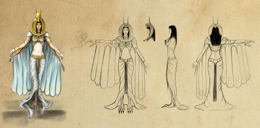 Egyptian Goddess Isis Wings