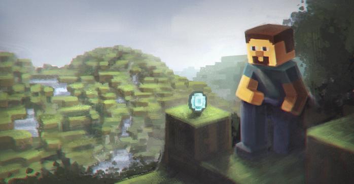 Minecraft: Diamond by ChrisPaints