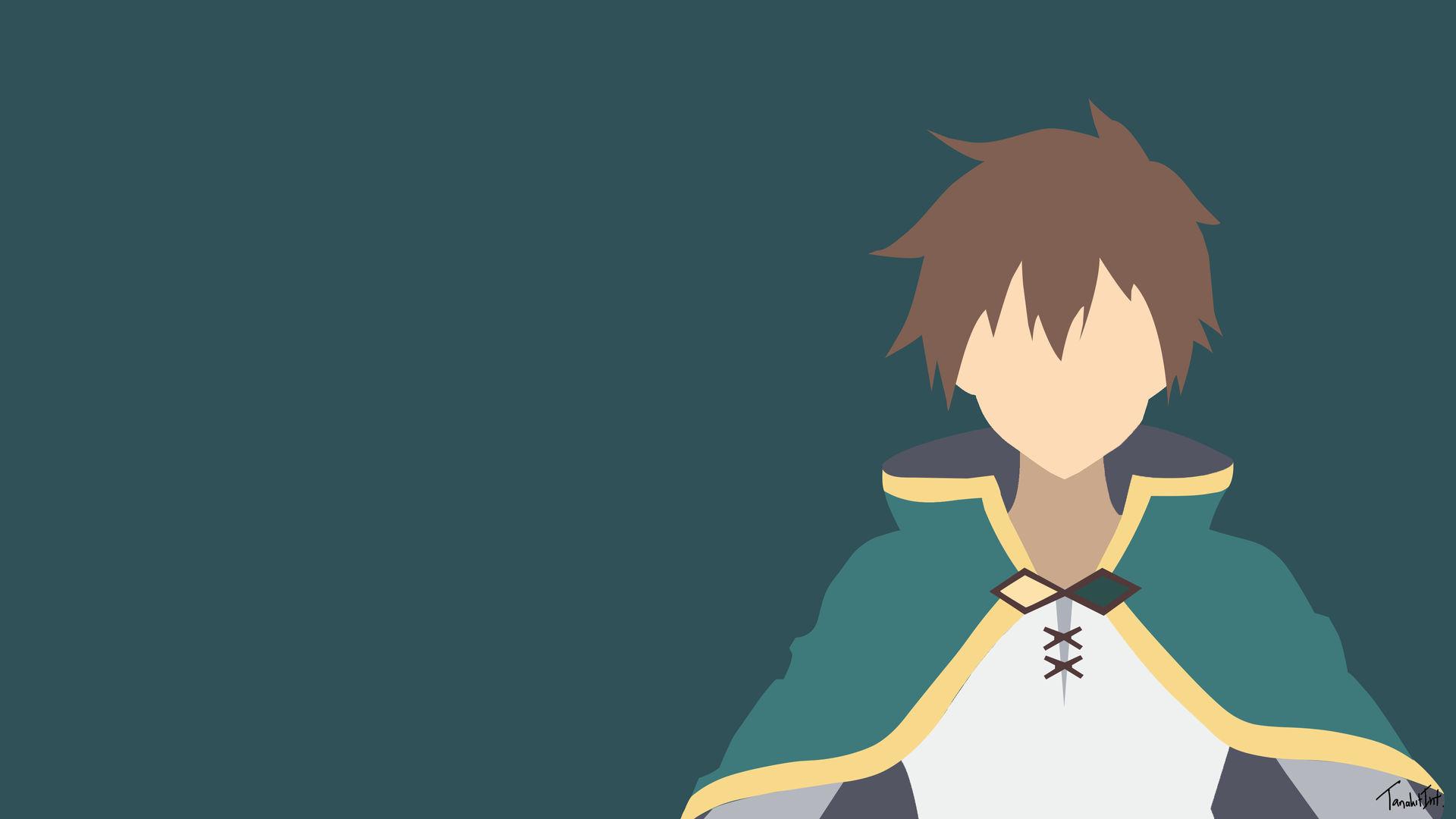 Satou Kazuma Konosuba Minimalist Anime Wallpaper By Tanakitint On Deviantart