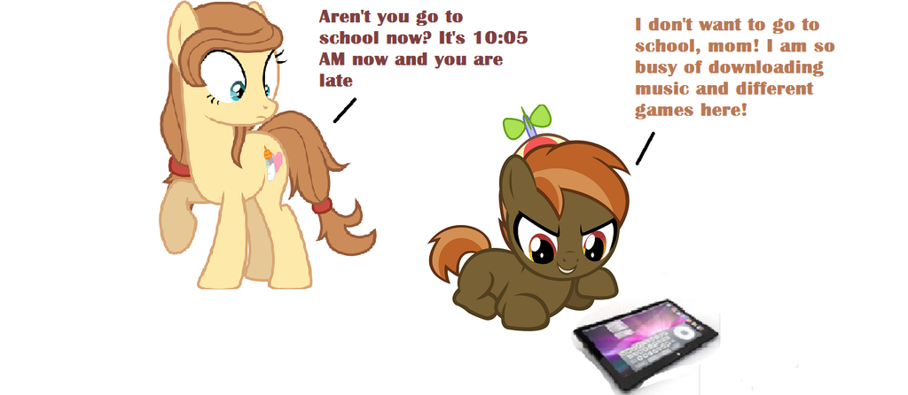 Button Mash don't want to go to school by Quaneisha on DeviantArt