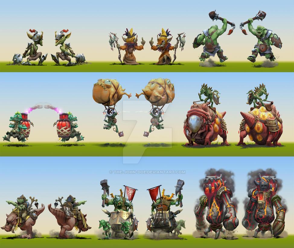 'OrcsOrcsOrcs' Creature illustrations by the-John-Doe