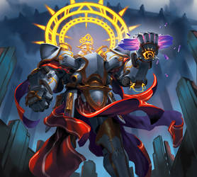 Aubade the grim - Keyforge illustration