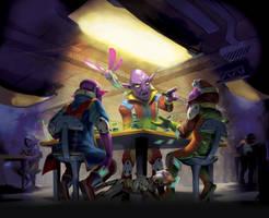 Gambling den - Keyforge illustration