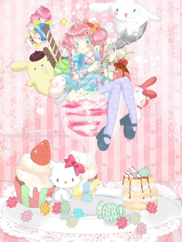 Hello Parfait Kitty by Ayasal