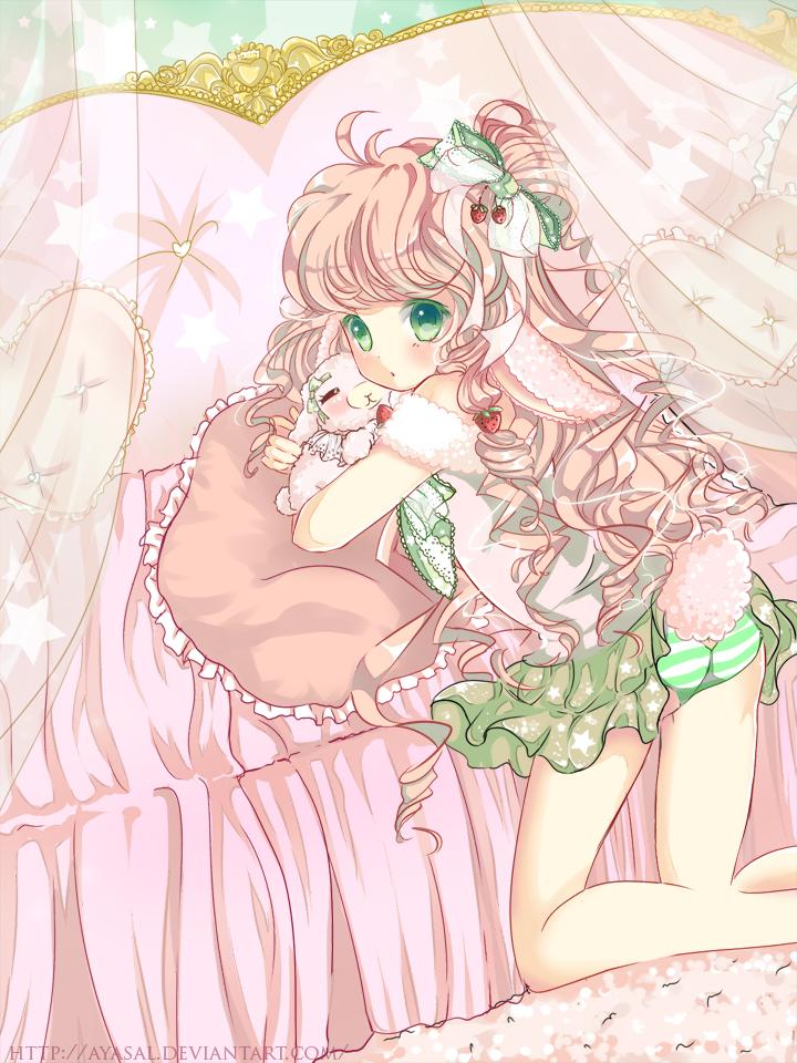 Cute Pink Little Alpacasso by Ayasal