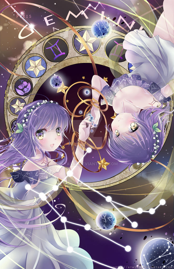 Anime Characters Virgo : Gemini zodiacal constellations by ayasal on deviantart