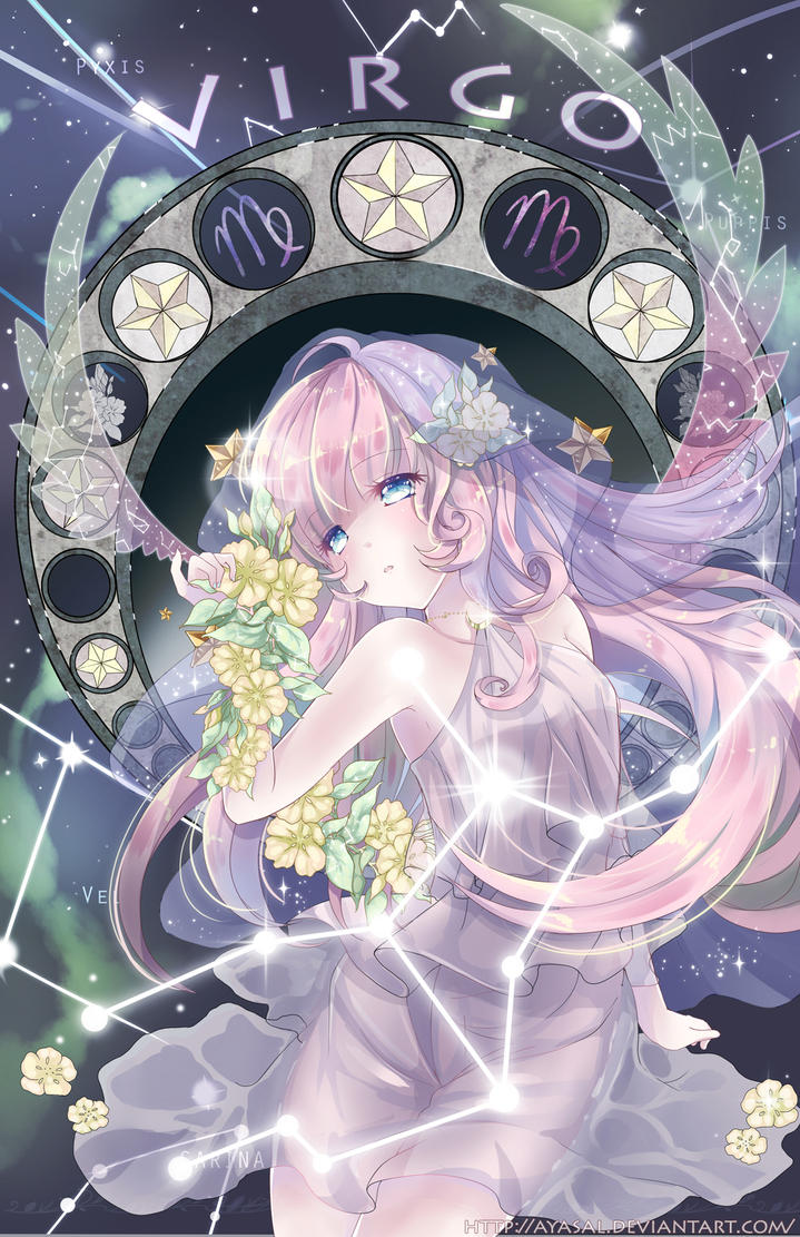 Anime Characters Virgo : Virgo zodiacal constellations w speedpaint by ayasal on