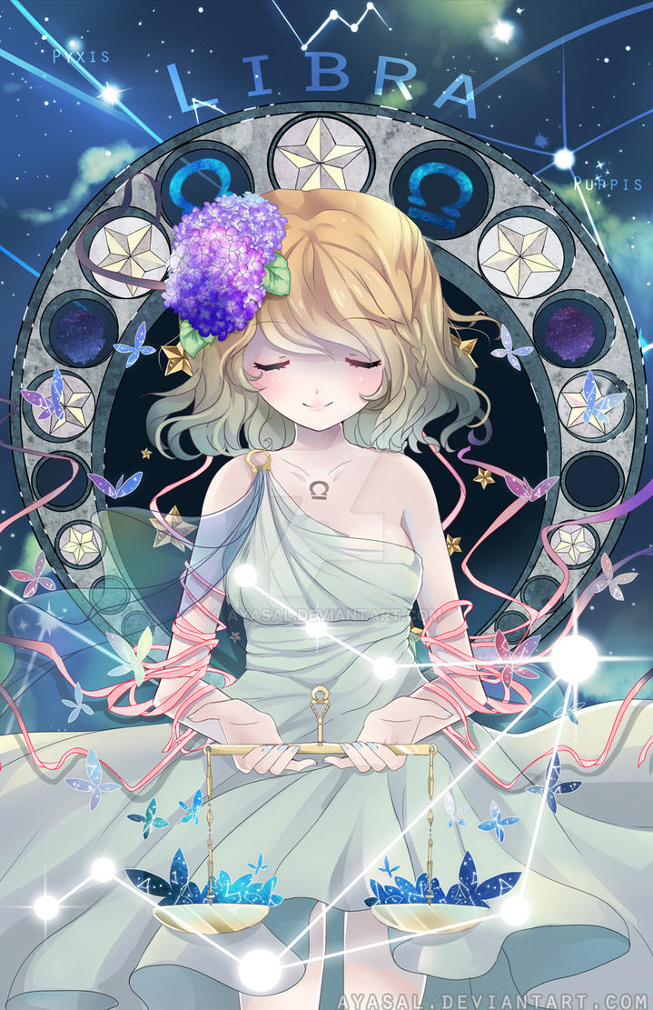 Anime Characters Zodiac Signs Libra : Libra zodiacal constellations w speedpaint by ayasal on