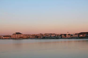 Frozen Bay Sunset by dream93