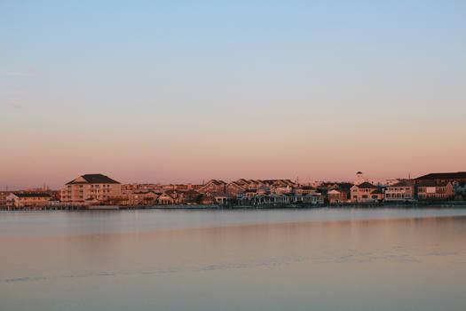 Frozen Bay Sunset