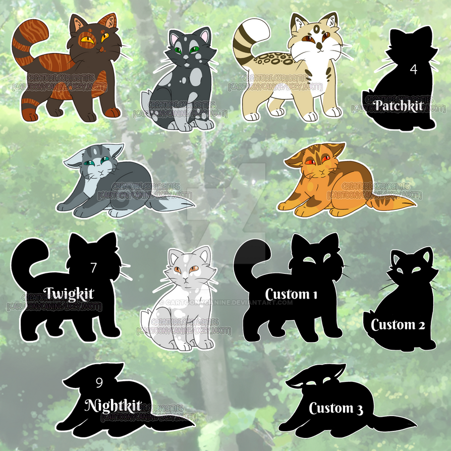 Mystery Kitten Adoptables [X] by CartoonyCanine