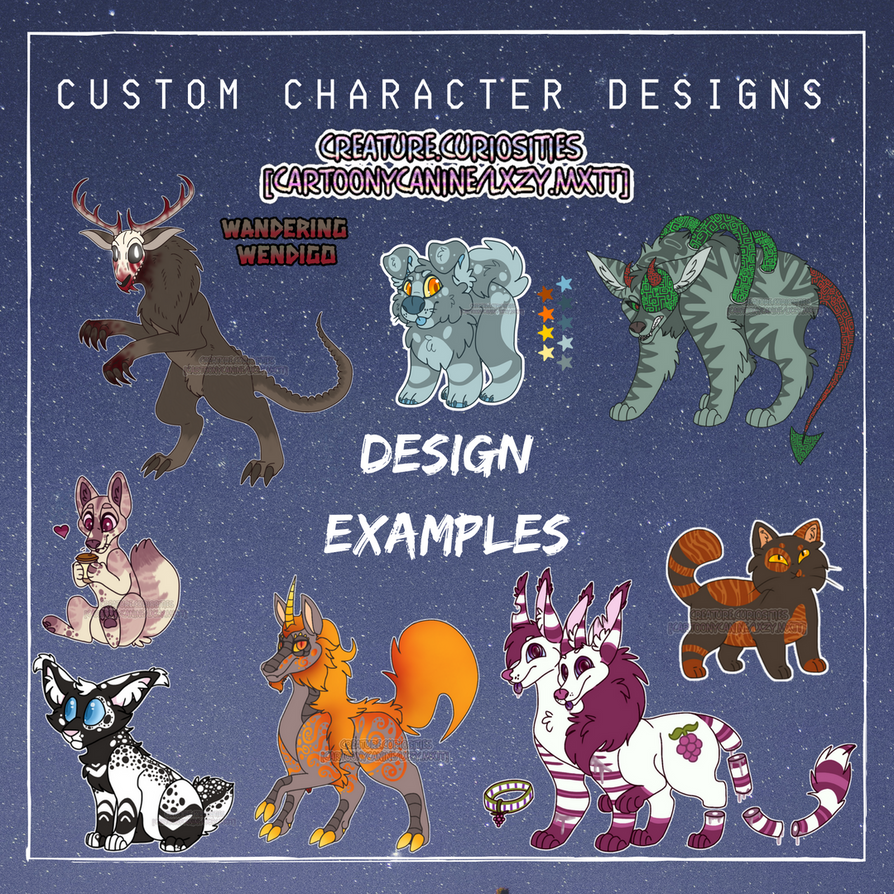 Design Examples by CartoonyCanine
