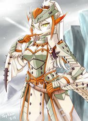 MH3G-White Knight of Ice Field by SkyKain