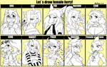 Let`s draw female furry!
