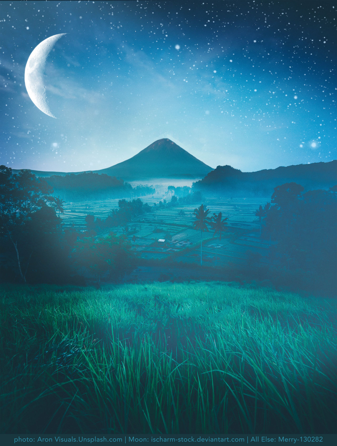 Moonlight Premade Background