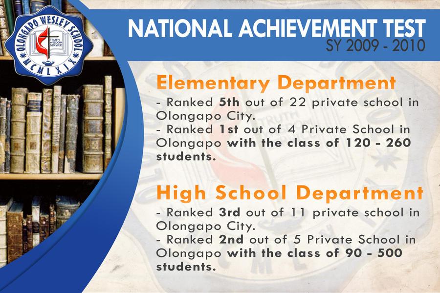 national achievement test essay No achievement test, no matter how unbiased it seems, can equally measure what children learn critics like the national education association's president, dennis van.