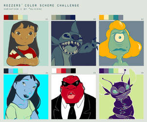Color Scheme Challenge Featuring Lilo and Stitch by dolphin28