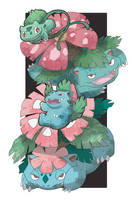 Bulbasaur Evolve by AudGreen