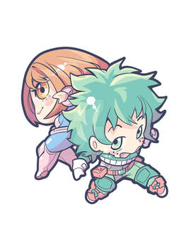 Izuku and Ochaco