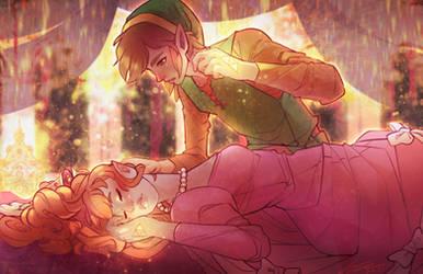 Sleeping Zelda (REDRAW)