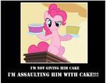 Pinkie Pie Assaulting With Cake