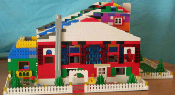 spiffy lego house by legochick08