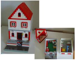 random lego house by legochick08