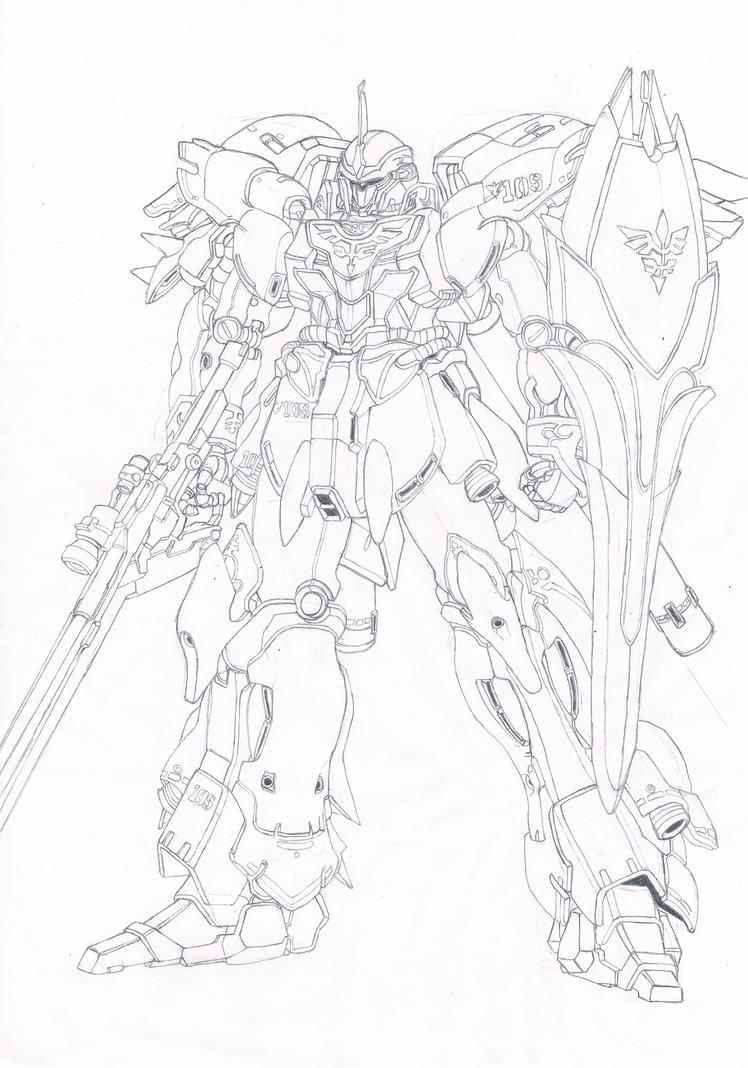 Gundam lineart by plsbcool