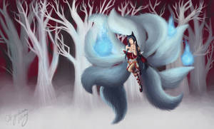 Ahri, the Nine-Tailed Fox. by FATALxFRAME