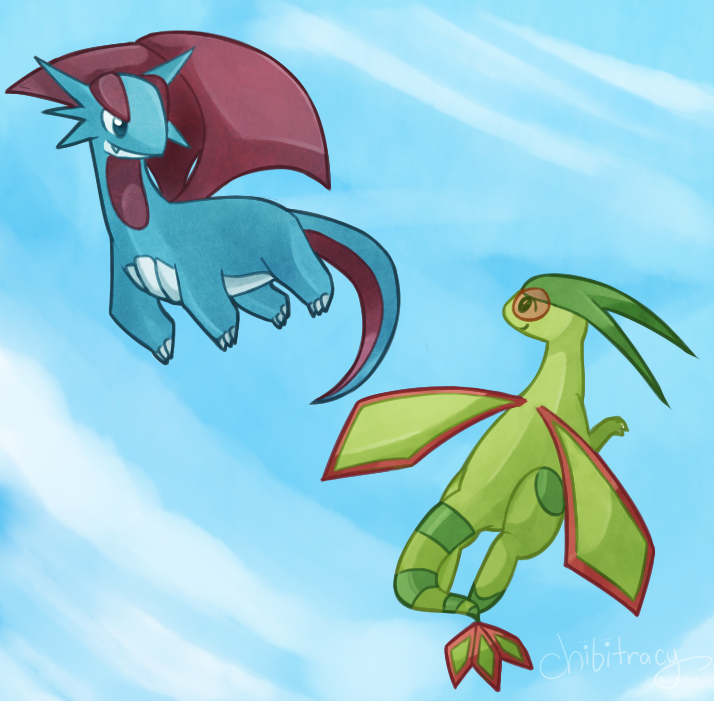 Salamence and Flygon by Sunnynoga on DeviantArt