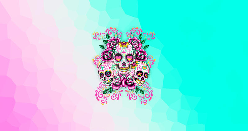 Pastel Colors Sugar Skulls Wallpaper By Aley Hand Rough On Deviantart