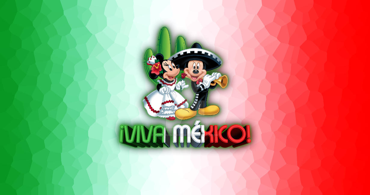 Viva Mexico Disney Mickey Minnie Wallpaper by Aley-Hand-Rough ...