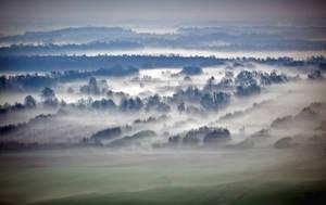 Springtime Fog in the Morning by sandor99