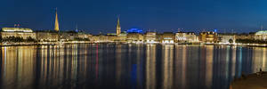 Hamburg Alster Panorama by sandor99