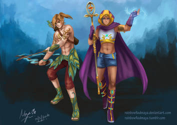 Clash of Heroes by ZakuraRain