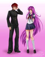 Haruto and Waifu by ZakuraRain