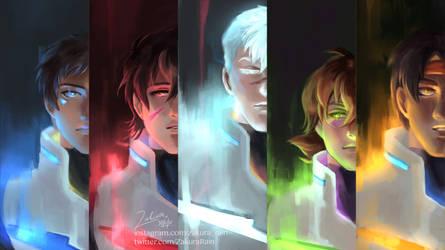 Five Paladins of Voltron by ZakuraRain