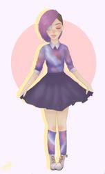 Galaxy Girl Re-Draw by xXArtIsTheWeaponXx