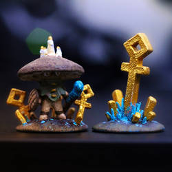 Portobello (Myconid Druid) - DnD Mini Figurine by ZeTrystan