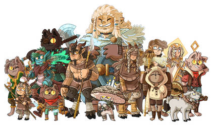 Dnd Characters by ZeTrystan