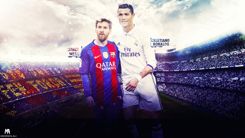 Messi ronaldo the legends wallpaper by mostafarock on deviantart - Messi ronaldo wallpaper ...